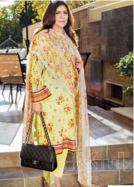 Gul Ahmed Embroidered Lawn Unstitched 3 Piece Suit GA20MS BCT-24 - Spring / Summer Collection