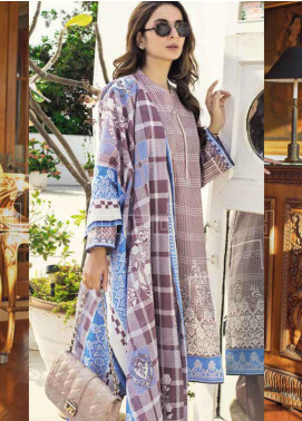 Gul Ahmed Printed Lawn Unstitched 3 Piece Suit GA20MS CL-669B - Spring / Summer Collection