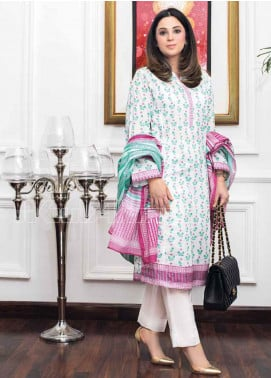 Gul Ahmed Printed Lawn Unstitched 3 Piece Suit GA20MS CL-670B - Spring / Summer Collection