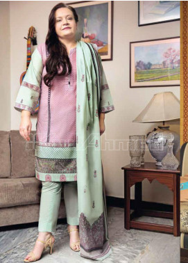 Gul Ahmed Printed Lawn Unstitched 3 Piece Suit GA20MS CL-671B - Spring / Summer Collection
