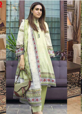 Gul Ahmed Printed Lawn Unstitched 3 Piece Suit GA20MS CL-676B - Spring / Summer Collection