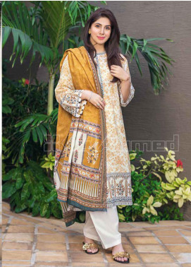Gul Ahmed Printed Lawn Unstitched 3 Piece Suit GA20MS CL-704A - Spring / Summer Collection