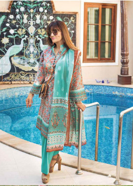 Gul Ahmed Printed Lawn Unstitched 3 Piece Suit GA20MS CL-708A - Spring / Summer Collection