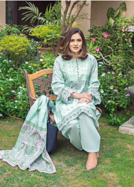 Gul Ahmed Printed Lawn Unstitched 3 Piece Suit GA20MS CL-708B - Spring / Summer Collection