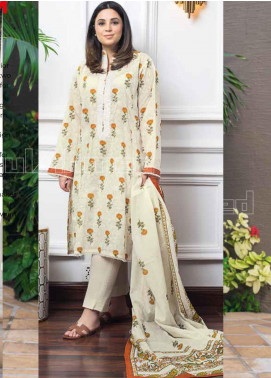 Gul Ahmed Embroidered Lawn Unstitched 3 Piece Suit GA20MS CL-794A - Spring / Summer Collection