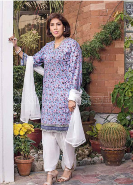 Gul Ahmed Printed Lawn Unstitched Kurties GA20MS SL-755 - Spring / Summer Collection