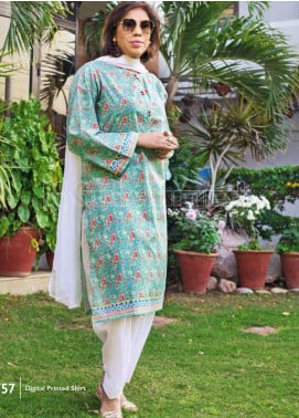Gul Ahmed Printed Lawn Unstitched Kurties GA20MS SL-756 - Spring / Summer Collection