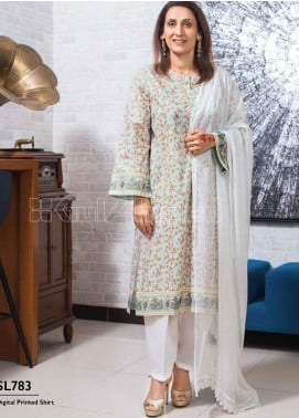 Gul Ahmed Printed Lawn Unstitched Kurties GA20MS SL-781 - Spring / Summer Collection