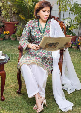 Gul Ahmed Printed Lawn Unstitched Kurties GA20MS SL-786 - Spring / Summer Collection