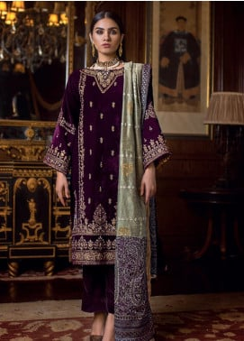 Gul Ahmed Embroidered Velvet Winter Collection 11 Nagina 2019