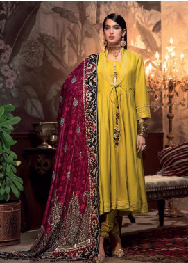 Gul Ahmed Embroidered Raw Silk Unstitched 3 Piece Suit GA19NC VSH 02 PAZEEB - Winter Collection