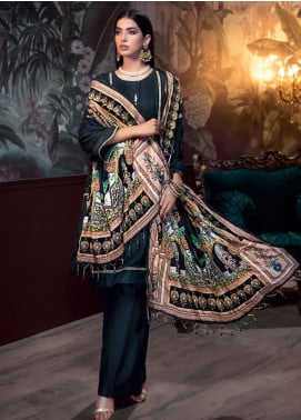Gul Ahmed Embroidered Raw Silk Unstitched 3 Piece Suit GA19NC VSH 03 GOHAR - Winter Collection