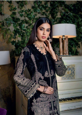 Gul Ahmed Embroidered Velvet Unstitched 2 Piece Suit GA18V VLT 07 - Noor-e-Chasham Collection