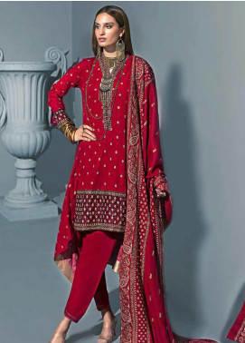 Gul Ahmed Embroidered Khaddar Unstitched 3 Piece Suit GA19PC APE 07 - Winter Collection