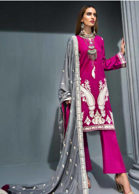Gul Ahmed Embroidered Khaddar Unstitched 3 Piece Suit GA19PC APE 08 - Winter Collection