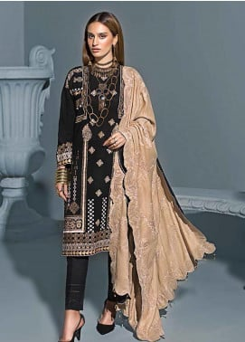 Gul Ahmed Embroidered Khaddar Winter Collection Design # 09 2019