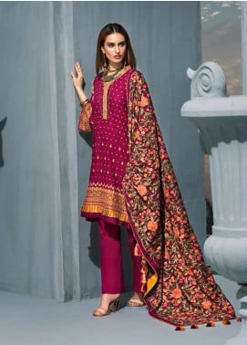 Gul Ahmed Embroidered Khaddar Winter Collection Design # 10 2019