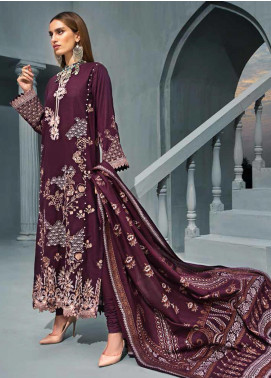 Gul Ahmed Embroidered Khaddar Winter Collection Design # 06 2019