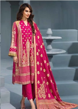 Gul Ahmed Embroidered Khaddar Unstitched 3 Piece Suit GA19PC AY 08 - Winter Collection