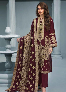 Gul Ahmed Embroidered Khaddar Winter Collection Design # 01 2019