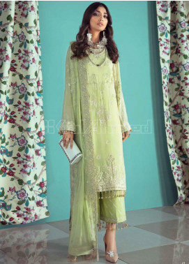 Gul Ahmed Embroidered Chiffon Unstitched 3 Piece Suit GA20PL LE-17 - Spring / Summer Collection