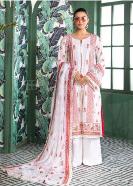Gul Ahmed Embroidered Swiss Voile Unstitched 3 Piece Suit GA20PL LSV-19 - Spring / Summer Collection