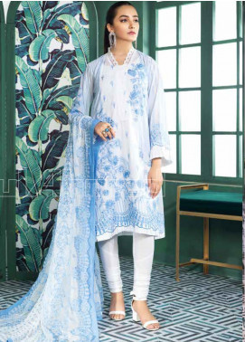 Gul Ahmed Embroidered Swiss Voile Unstitched 3 Piece Suit GA20PL LSV-27 - Spring / Summer Collection