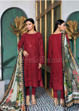 Gul Ahmed Embroidered Swiss Voile Unstitched 3 Piece Suit GA20PL LSV-30 - Spring / Summer Collection