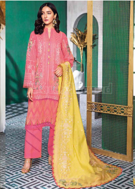 Gul Ahmed Embroidered Swiss Voile Unstitched 3 Piece Suit GA20PL LSV-34 - Spring / Summer Collection