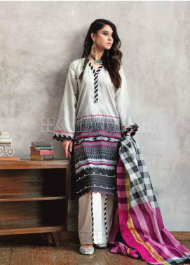 Gul Ahmed Printed Jacquard Unstitched 3 Piece Suit GA20PL MJ-16 - Spring / Summer Collection