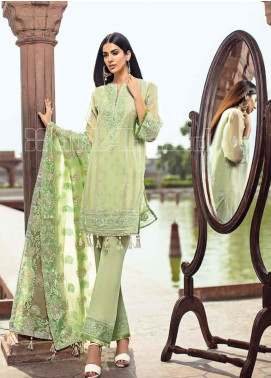 Gul Ahmed Embroidered Chiffon Unstitched 3 Piece Suit GA20PL PM-240 - Spring / Summer Collection
