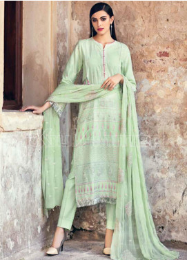 Gul Ahmed Embroidered Zari Unstitched 3 Piece Suit GA20PL PM-278 - Spring / Summer Collection