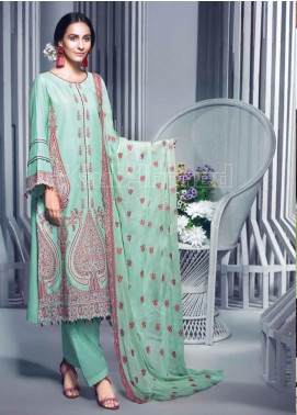 Gul Ahmed Embroidered Jacquard Unstitched 3 Piece Suit GA20PL PM-286 - Spring / Summer Collection