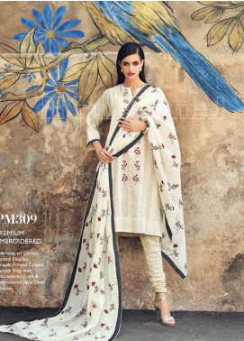 Gul Ahmed Embroidered Cotton Unstitched 3 Piece Suit GA20PL PM-309 - Spring / Summer Collection
