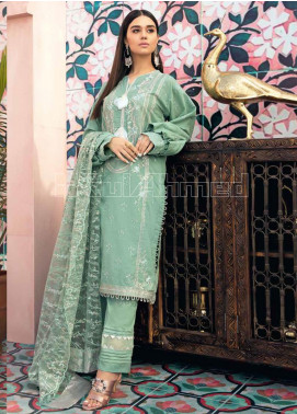Gul Ahmed Embroidered Jacquard Unstitched 3 Piece Suit GA20PL PM-311 - Spring / Summer Collection