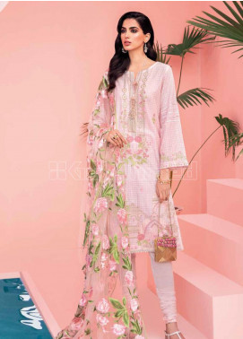 Gul Ahmed Embroidered Zari Unstitched 3 Piece Suit GA20PL PM-315 - Spring / Summer Collection