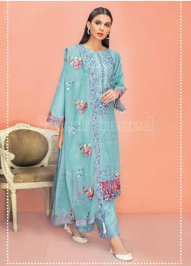 Gul Ahmed Embroidered Organza Unstitched 3 Piece Suit GA20PL PM-322 - Spring / Summer Collection