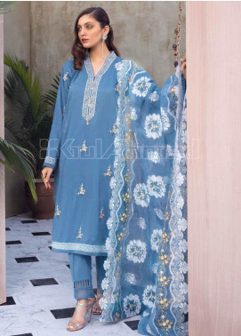 Gul Ahmed Embroidered Cotton Silk Unstitched 3 Piece Suit GA20PL PM-327 - Spring / Summer Collection