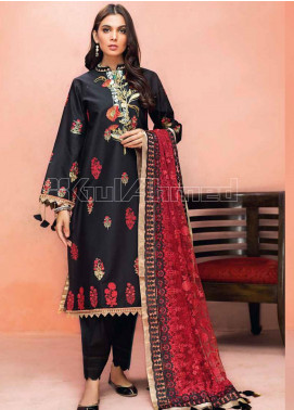 Gul Ahmed Embroidered Jacquard Unstitched 3 Piece Suit GA20PL PM-330 - Spring / Summer Collection