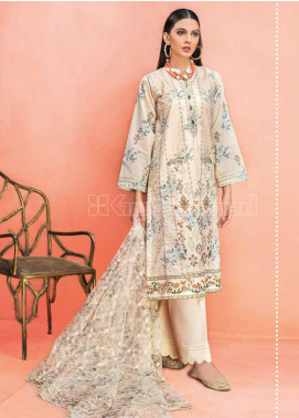 Gul Ahmed Embroidered Jacquard Unstitched 3 Piece Suit GA20PL PM-335 - Spring / Summer Collection