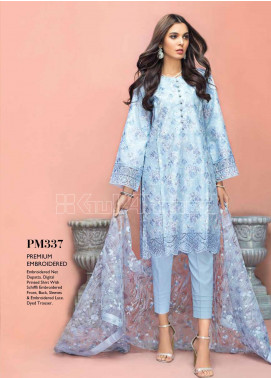 Gul Ahmed Embroidered Schiffli Unstitched 3 Piece Suit GA20PL PM-337 - Spring / Summer Collection