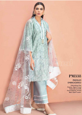 Gul Ahmed Embroidered Schiffli Unstitched 3 Piece Suit GA20PL PM-338 - Spring / Summer Collection