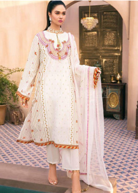 Gul Ahmed Embroidered Jacquard Unstitched 3 Piece Suit GA20PL PM-350 - Spring / Summer Collection