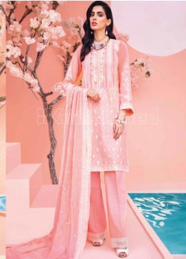 Gul Ahmed Embroidered Jacquard Unstitched 3 Piece Suit GA20PL PM-361 - Spring / Summer Collection