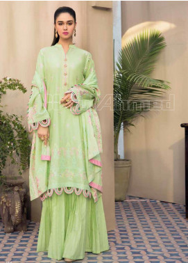 Gul Ahmed Embroidered Jacquard Unstitched 3 Piece Suit GA20PL PM-365 - Spring / Summer Collection