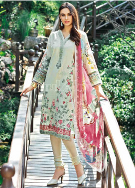Gul Ahmed Embroidered Jacquard Unstitched 3 Piece Suit GA20PL SSM-20 - Spring / Summer Collection