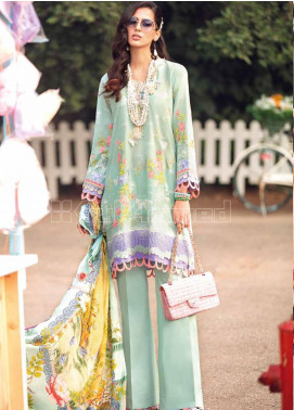 Gul Ahmed Embroidered Zari Unstitched 3 Piece Suit GA20PL SSM-34 - Spring / Summer Collection