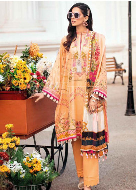 Gul Ahmed Embroidered Zari Unstitched 3 Piece Suit GA20PL SSM-35 - Spring / Summer Collection
