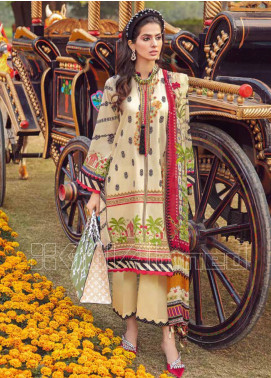 Gul Ahmed Embroidered Zari Unstitched 3 Piece Suit GA20PL SSM-36 - Spring / Summer Collection