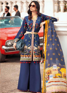 Gul Ahmed Embroidered Zari Unstitched 3 Piece Suit GA20PL SSM-40 - Spring / Summer Collection